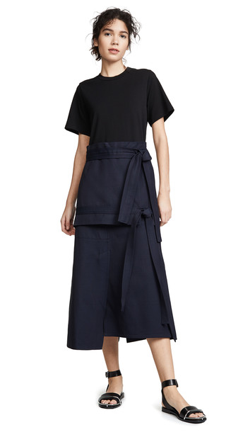 3.1 Phillip Lim Front Tie Dress in midnight