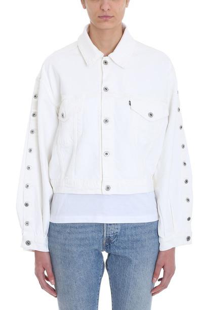 Levi's Artillery Trucker Jacket in white