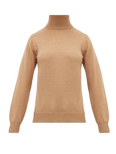 A.P.C. A.p.c. - Sandra Wool Roll Neck Sweater - Womens - Beige