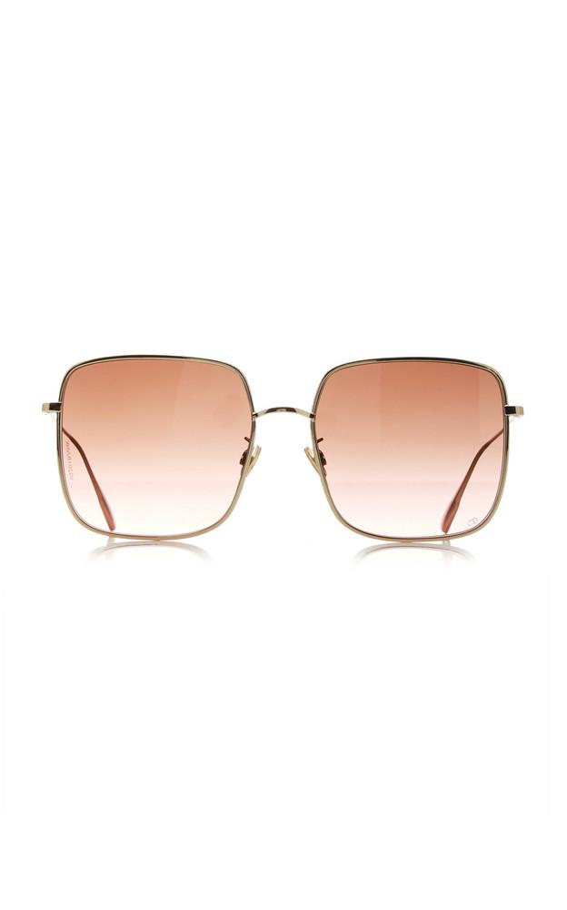 Dior Oversized Square-Frame Gold-Tone Sunglasses in purple