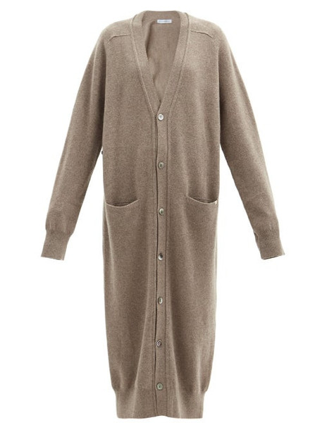 Extreme Cashmere - No. 125 Coco Long-line Stretch-cashmere Cardigan - Womens - Mid Brown
