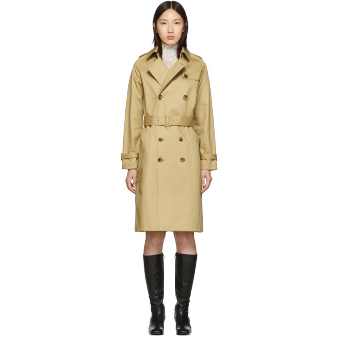 A.P.C. A.P.C. Beige Greta Trench Coat