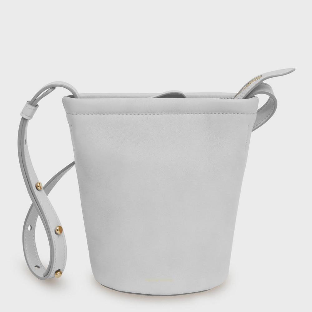 Mansur Gavriel Mini Zip Bucket Bag - Snow
