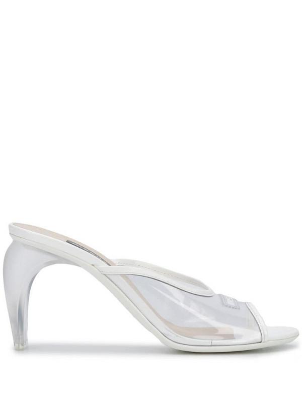 MISBHV PVC plexiglass heel sandals in white