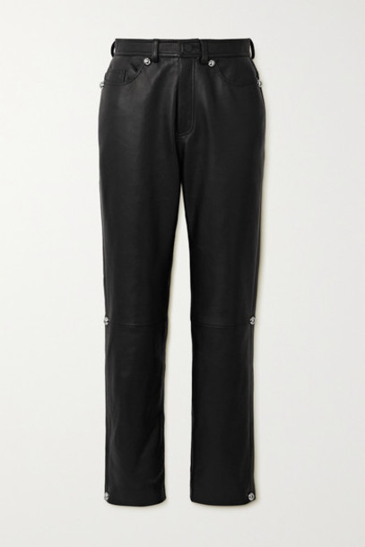 Christopher Kane - Dome Leather Straight-leg Pants - Black