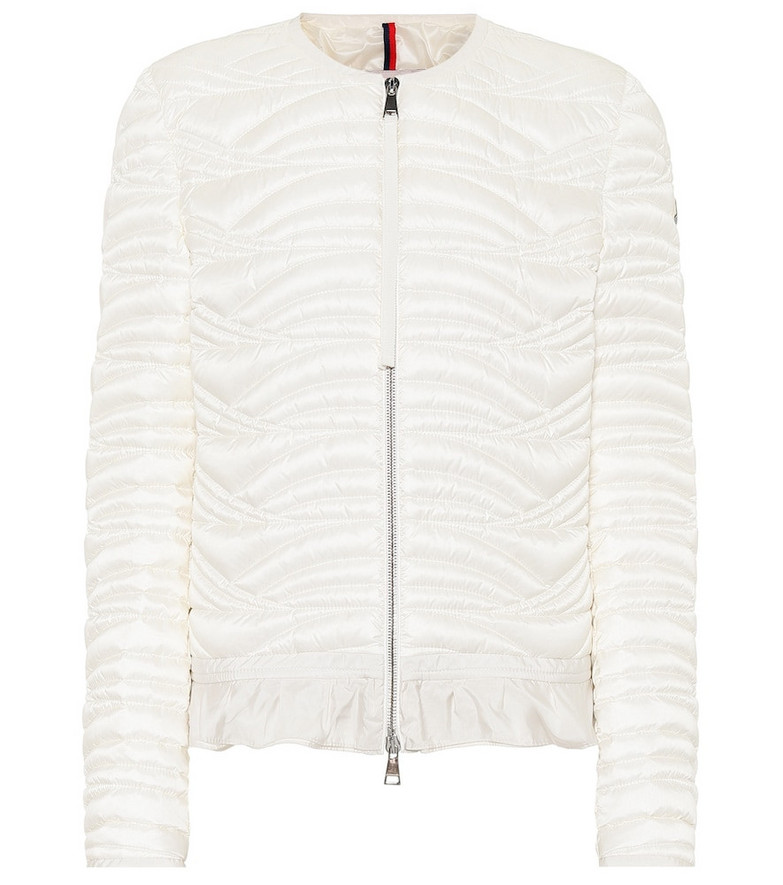 Moncler Quilted down-filled jacket in white