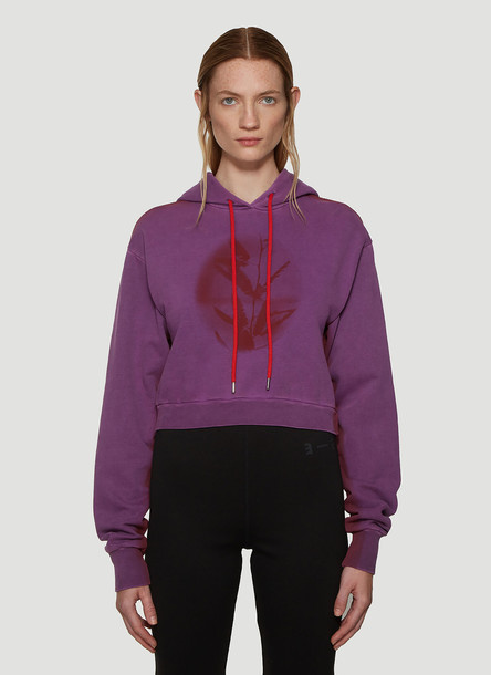 artica-arbox Kiss Cropped Hoodie in Purple size M