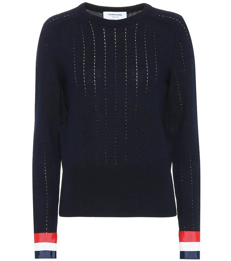 Thom Browne Wool sweater in blue