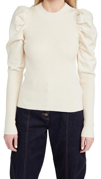 En Saison Puff Sleeve Sweater in natural