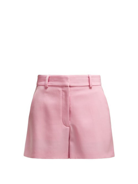 shorts high wool pink
