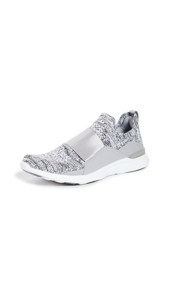 APL: Athletic Propulsion Labs TechLoom Bliss Sneakers in grey / white