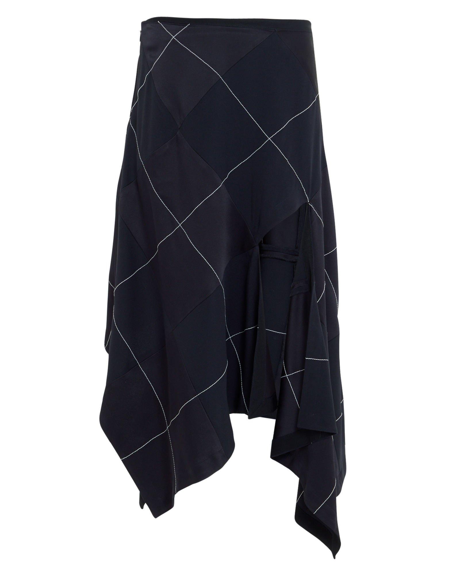 Argyle Asymmetrical Skirt