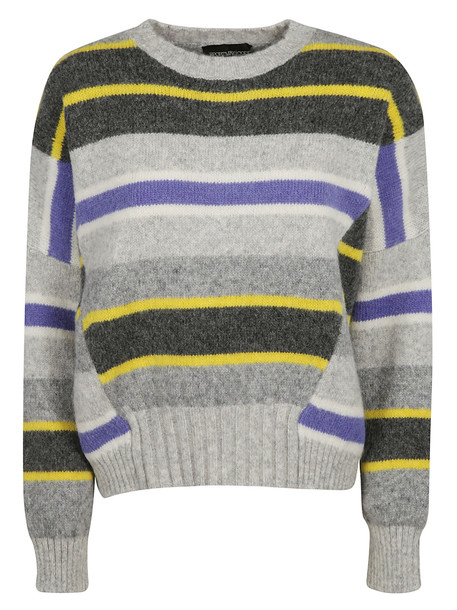 SportMax Tricot Pull Jersey Sweater in grey