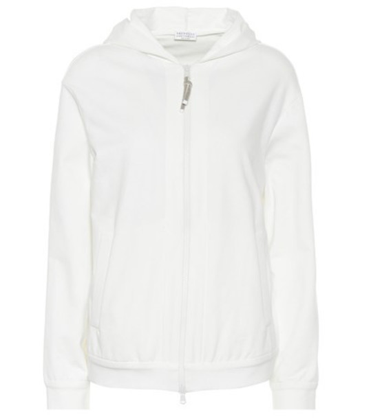 Brunello Cucinelli Cotton hoodie in white