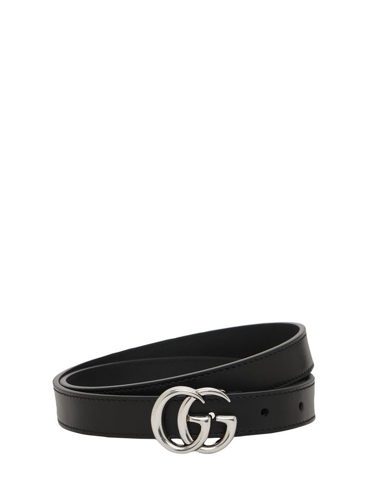 GUCCI 2cm Gg Marmont Leather Belt in black
