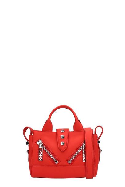 Kenzo Red Rubberized Leather Kalifornia Mini Bag