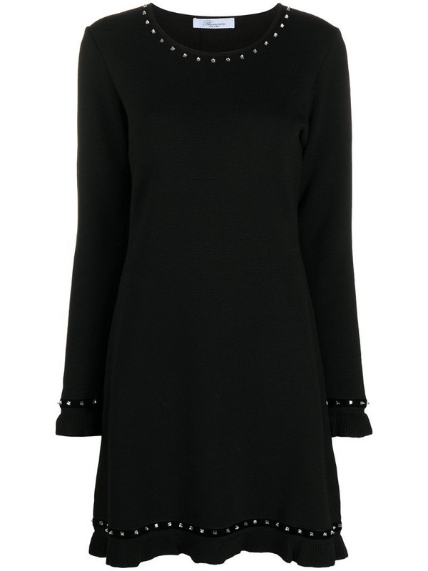 Blumarine knitted mini dress in black