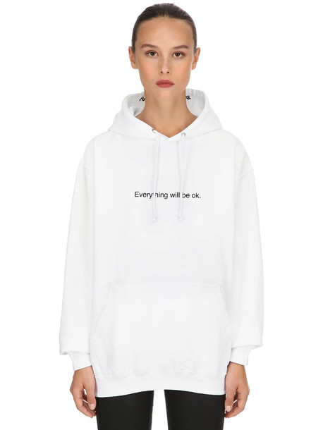 FAMT - FUCK ART MAKE TEES Everything Will Be Ok Cotton Sweatshirt in white