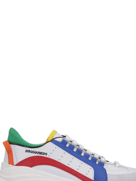 Dsquared2 Bumpy 551 Leather Sneakers in white