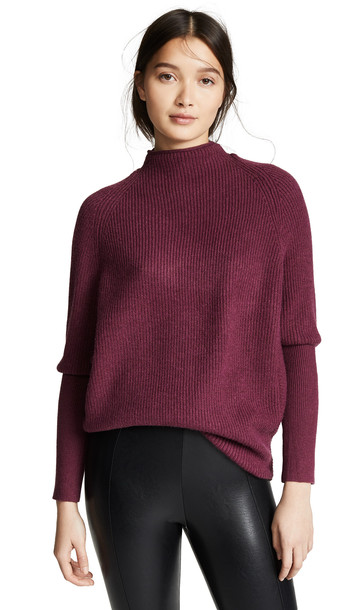 BB Dakota Jack By BB Dakota Sugar Glider Sweater in burgundy