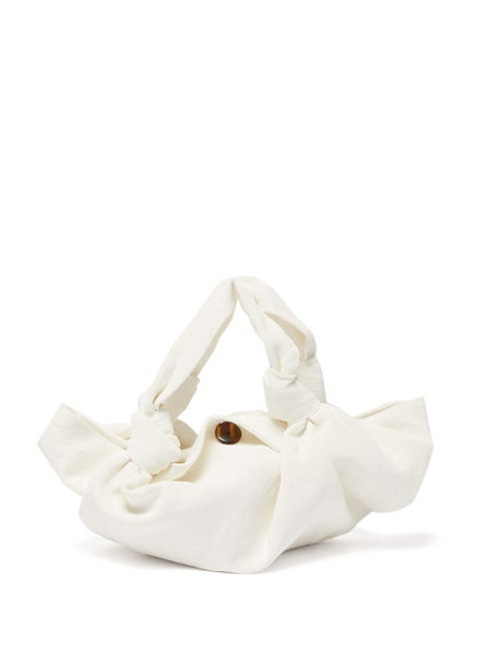 The Row - The Ascot Linen Clutch - Womens - White