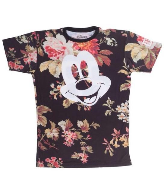 shirt floral mickey shirt