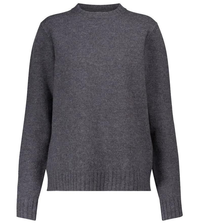 Jil Sander Merino wool sweater in grey