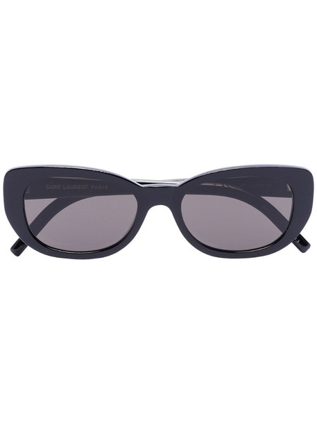 Saint Laurent Eyewear Betty oval cat-eye sunglasses in black