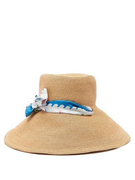 d1841446 Filù Hats - Vanuatu Wide Brim Straw Hat - Womens - Blue - Wheretoget