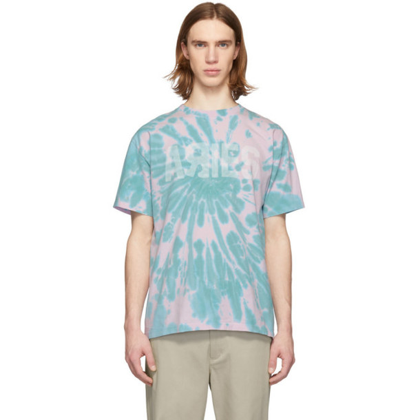 Aries Pink & Green Tie-Dye Go Your Own Way T-Shirt