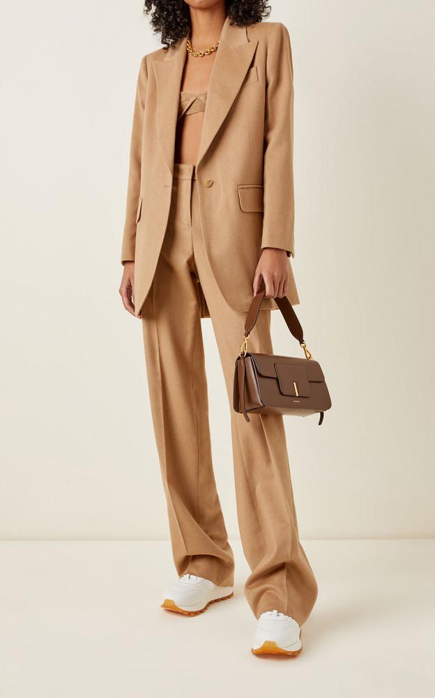 Wandler Georgia Leather Shoulder Bag in brown