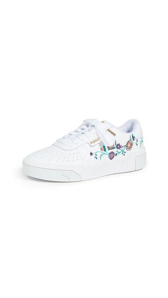 PUMA Cali Floral Sneakers in green / white