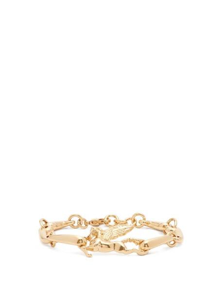 Etro - Pegasus-charm Nugget-chain Bracelet - Womens - Gold