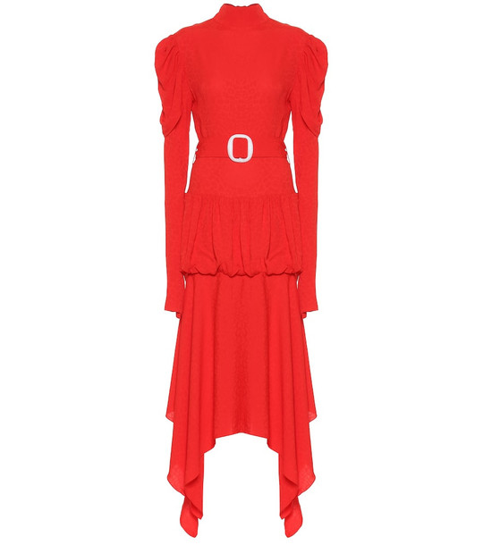 Matériel Tbilisi Jacquard midi dress in red