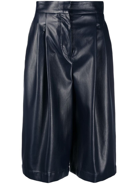 Philosophy Di Lorenzo Serafini faux leather knee-length shorts in blue