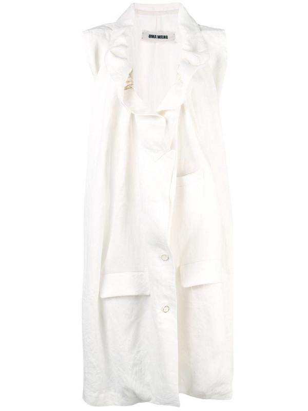 Uma Wang oversized midi jacket in white