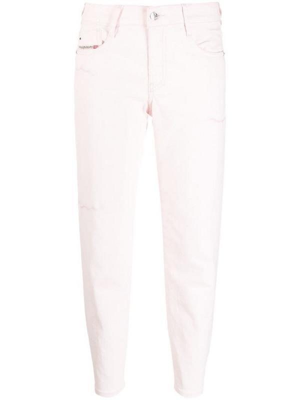 Diesel straight-leg jeans in pink