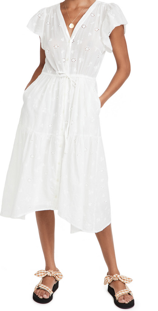 Birds of Paradis Kristi Dress in white