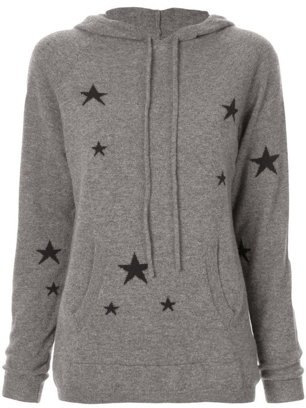 Chinti and Parker star knit hoodie in grey