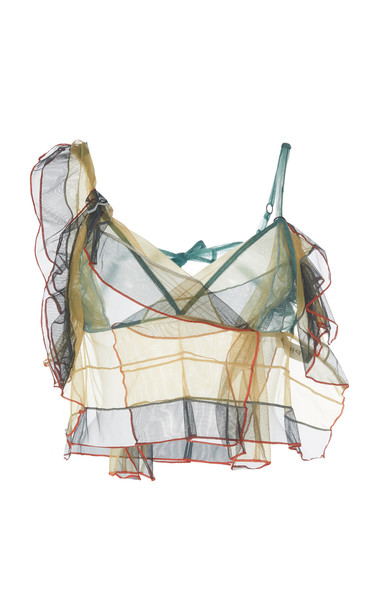 Y/Project Draped Tulle Bralette Size: 38 in green