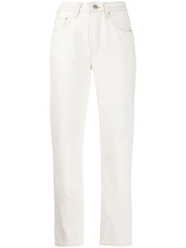 Levi's: Made & Crafted high-waisted slim fit jeans in neutrals