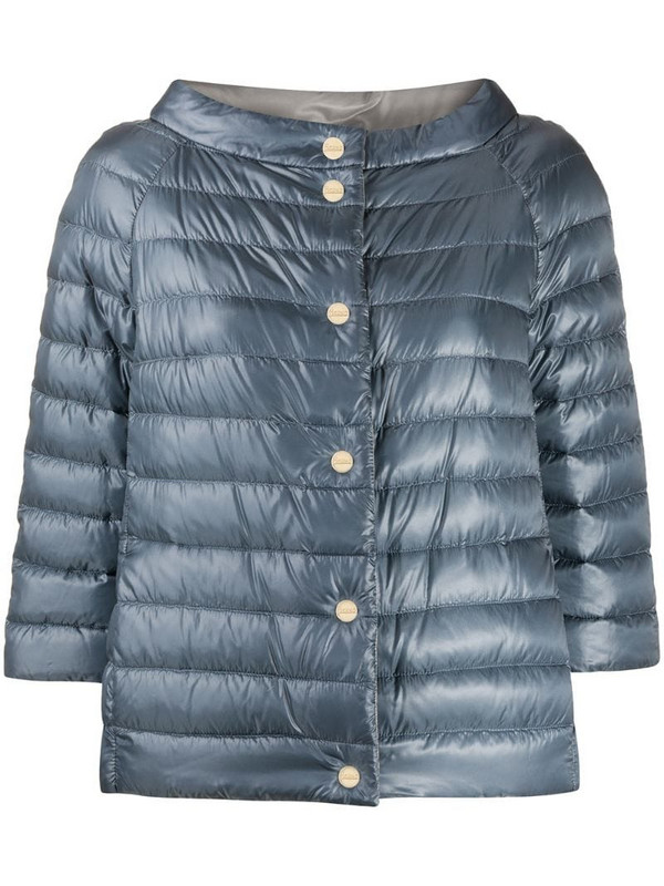 Herno reversible padded jacket in blue