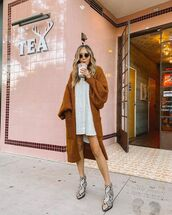 sweater,long cardigan,ankle boots,snake print,white dress,knitted dress