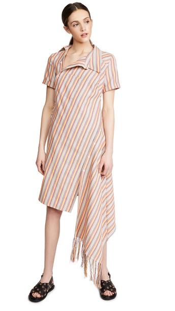 Monse Stripe Open Back Deconstructed Dress in multi