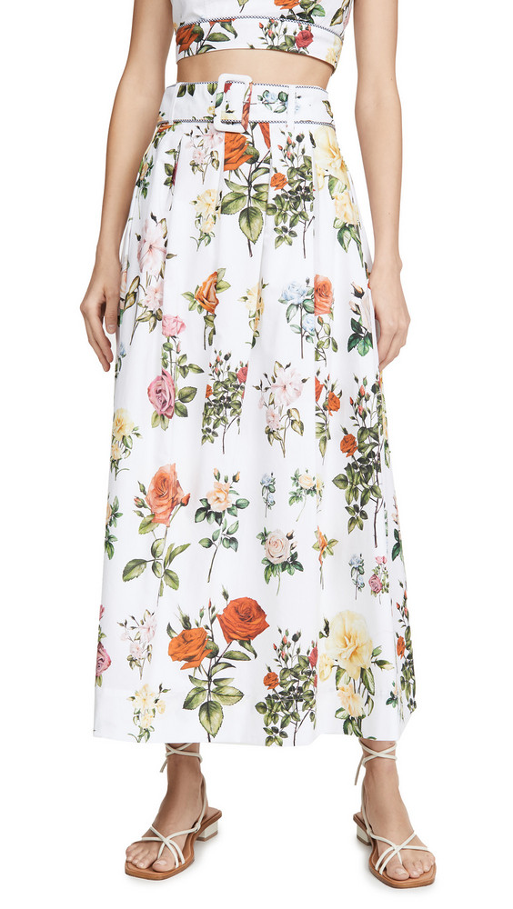 Rachel Antonoff Vinita Midi Skirt in rose