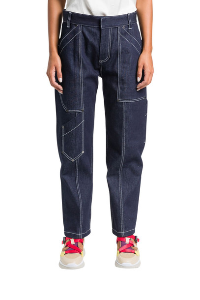 Chloé Chloé Cargo Jeans With White Stitching