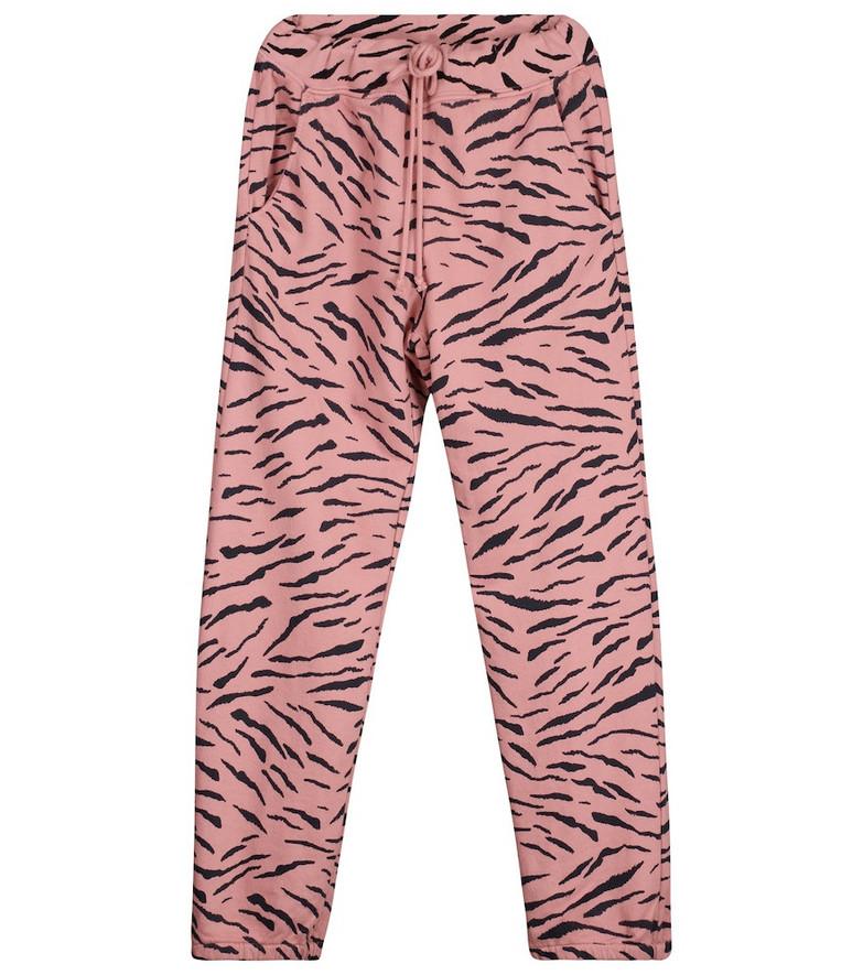 Velvet Sang printed cotton sweatpants in pink