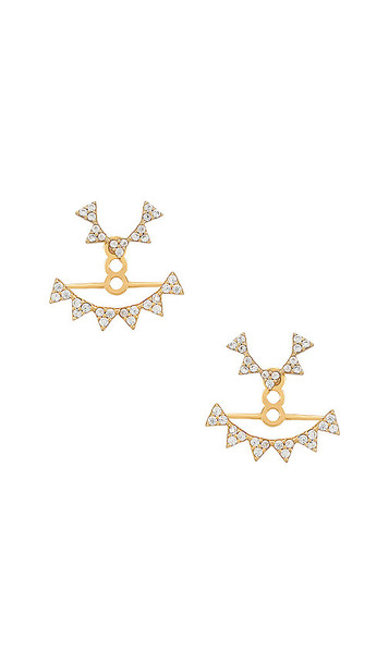 Bauble Bar 18k Gold Vermeil Ear Jackets in Metallic Gold