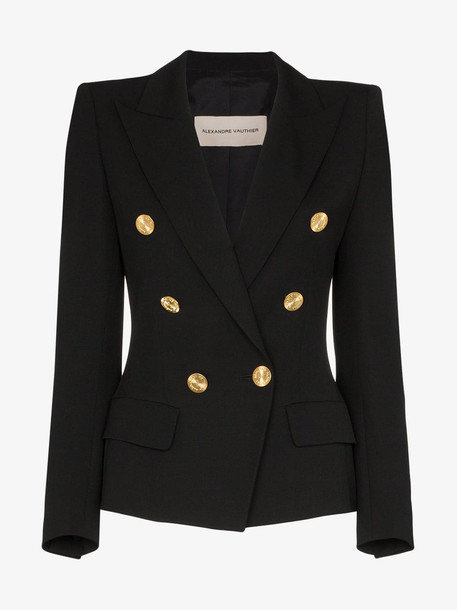 Alexandre Vauthier Gold tone button-down blazer