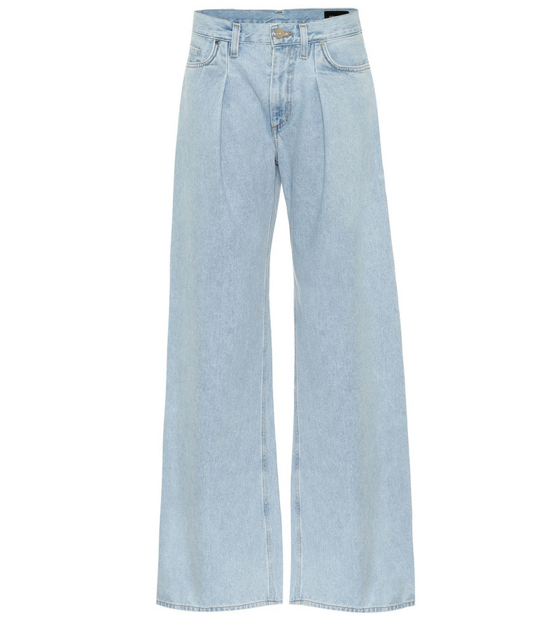 Goldsign The Wide Leg mid-rise jeans in blue